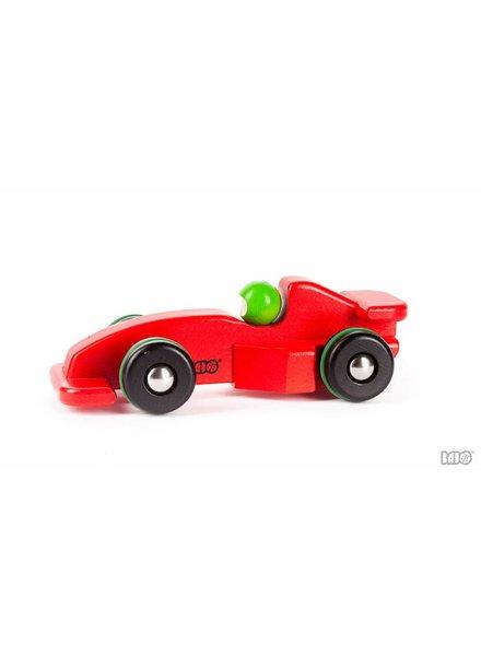 Bajo Houten rode speelgoed raceauto
