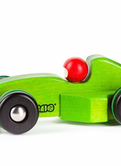 Bajo Houten speelgoed raceauto groen