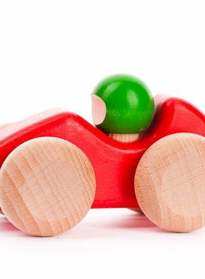 Bajo houten speelgoed racewagentje rood