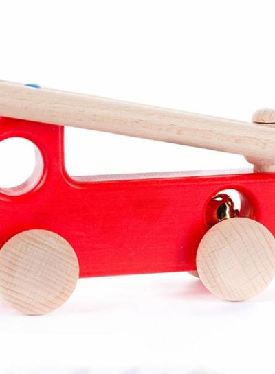 Bajo Houten speelgoed brandweerauto
