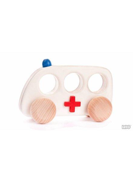Bajo Houten speelgoed ambulance