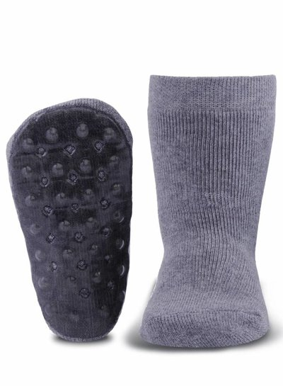 Ewers Antislip sokken grijs