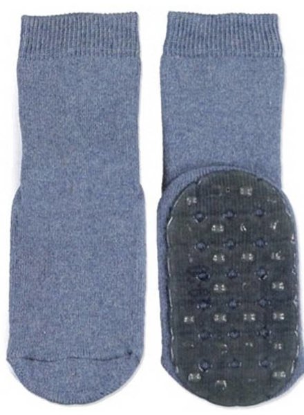 Ewers Antislip sokken jeans blauw