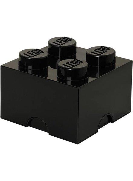 LEGO zwarte opslagsteen 25 x 25 cm