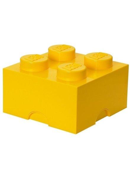LEGO gele opslagsteen 25 x 25 cm
