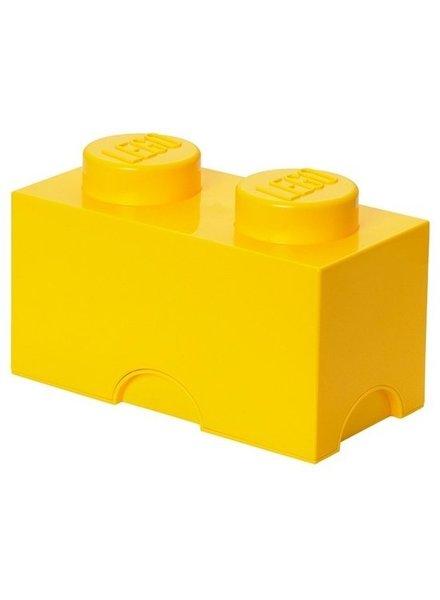 LEGO gele opslagsteen 12,5 x 25 cm