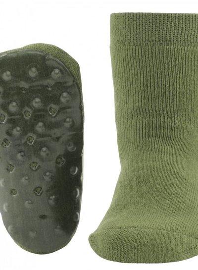 Ewers Antislip sokken olijfgroen