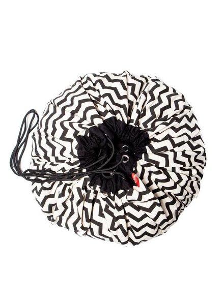 Play&Go Opbergzak Play&Go zwart wit zigzag patroon