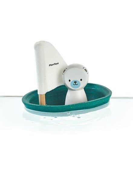 Plan Toys Zeilbootje met ijsbeer Play-Toys