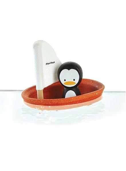 Plan Toys Zeilbootje met pinguïn Play-Toys