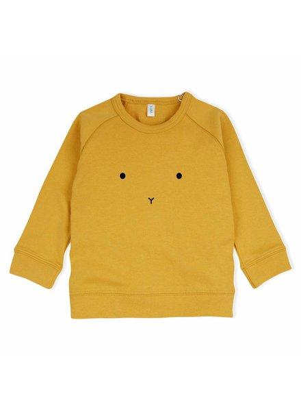 OrganicZoo Mosterdgeel sweatshirt Bunny
