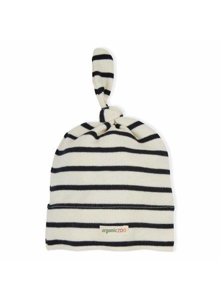 OrganicZoo knoopmutsje breton stripe