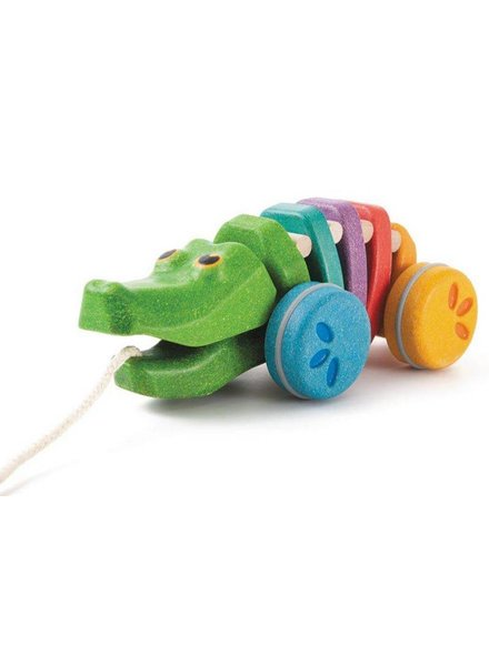 Plan Toys Dansende regenboog krokodil Plan-Toys