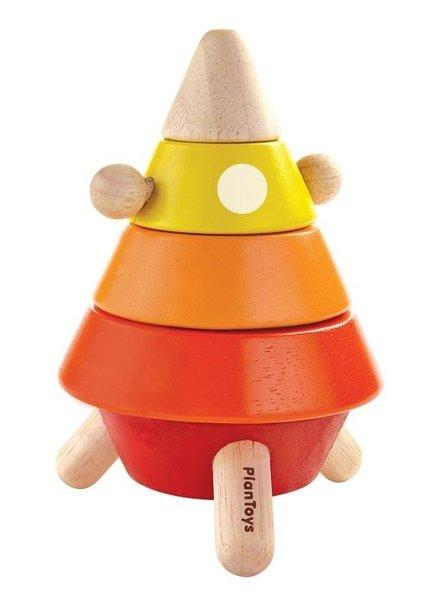 Plan Toys Houten stapel raket Plan-Toys