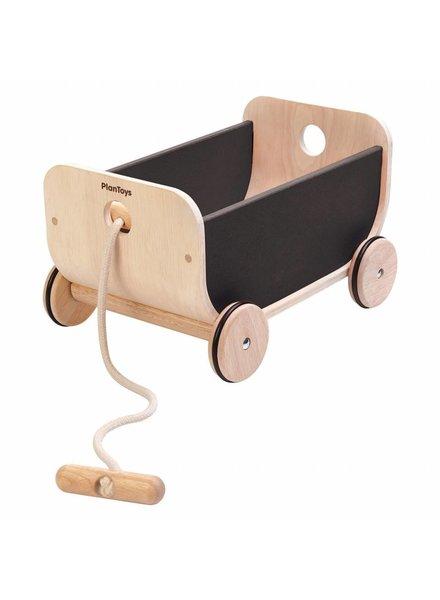 Plan Toys Trekwagen hout met zwart Plan-Toys