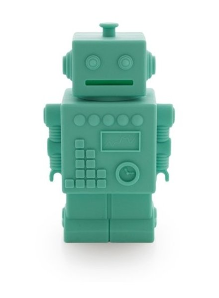 KG Design Spaarpot robot aqua