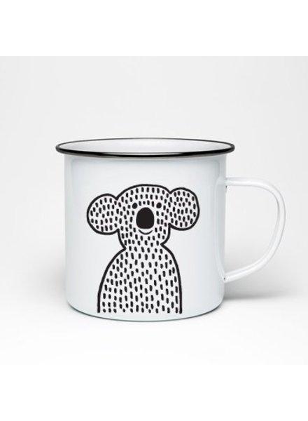 Studio Iris van Tricht Emaille mok koala
