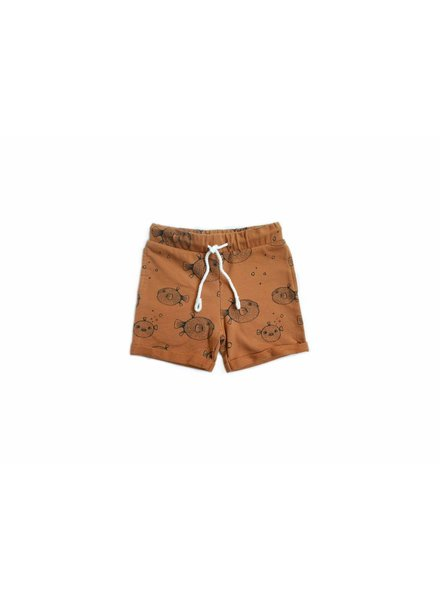 Sproet & Sprout Sweatshort oranje pufferfish