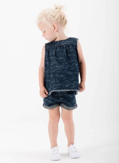 Sproet & Sprout Sweatshort blauw waves