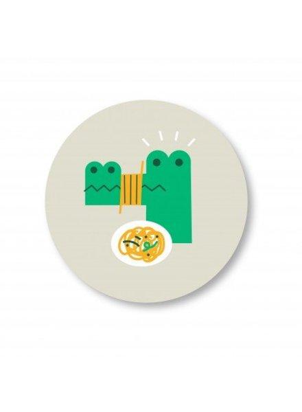 Makii Bamboe bord Krokodil