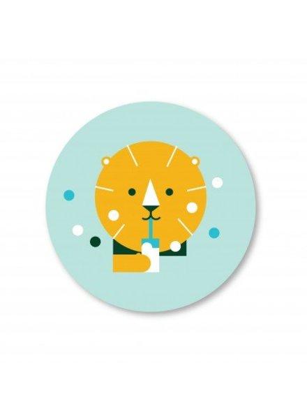 Makii Bamboe bord leeuw