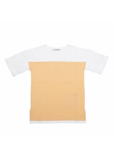 MINGO T-shirt wit/abrikoos