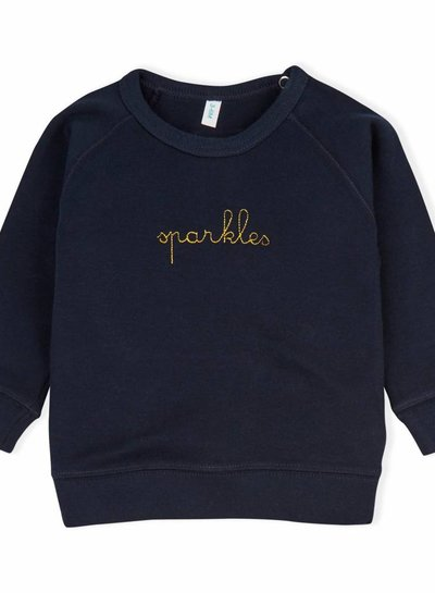 OrganicZoo Donkerblauw sweatshirt sparkles