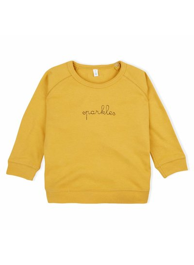 OrganicZoo Okergeel sweatshirt sparkles