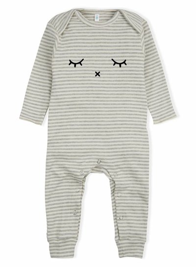 OrganicZoo gestreepte playsuit Sleepy
