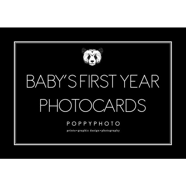 Poppyphoto Baby's first year photocards.