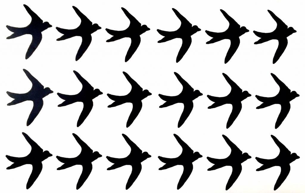 SuzyB Muursticker vogel