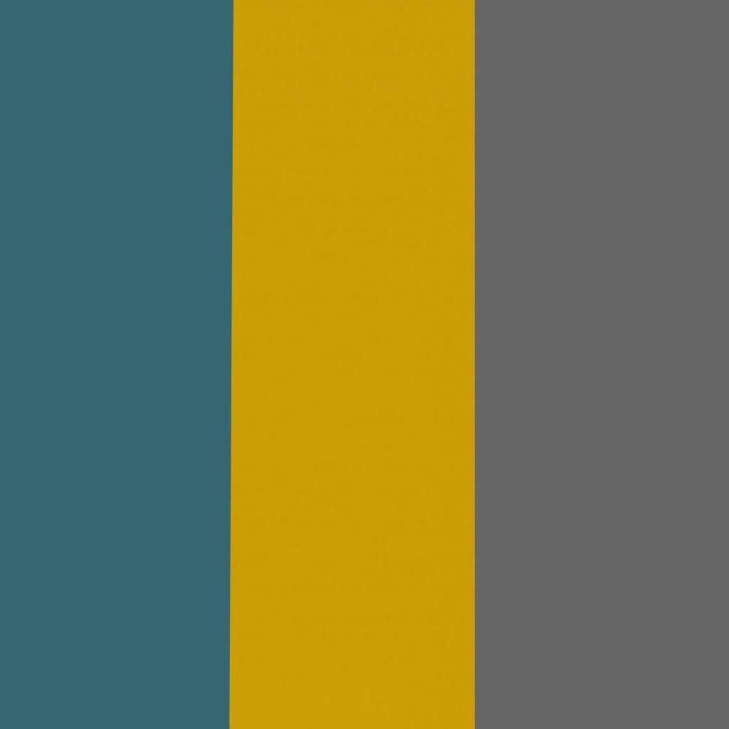 SuzyB Muursticker triangle mosterd, petrol en grijs