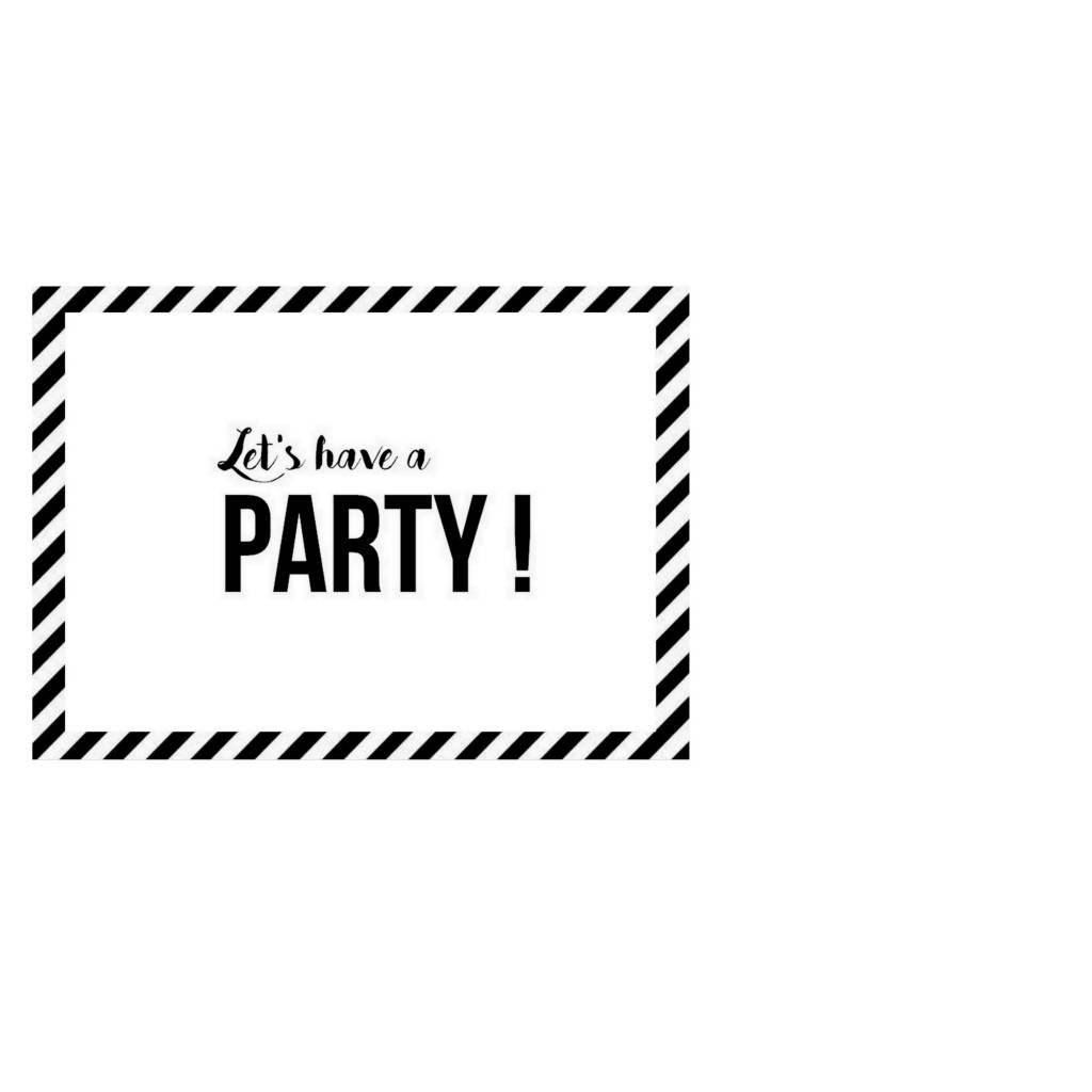 SuzyB Uitnodigingen Let's have a party!