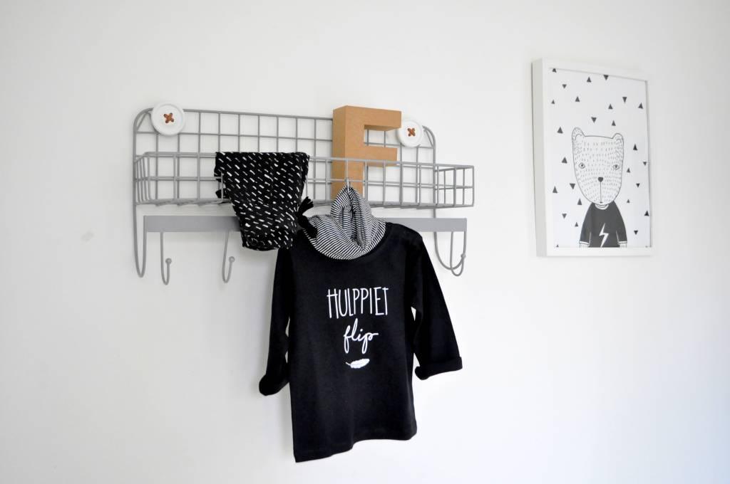 SuzyB Sint shirt met naam (zwart)