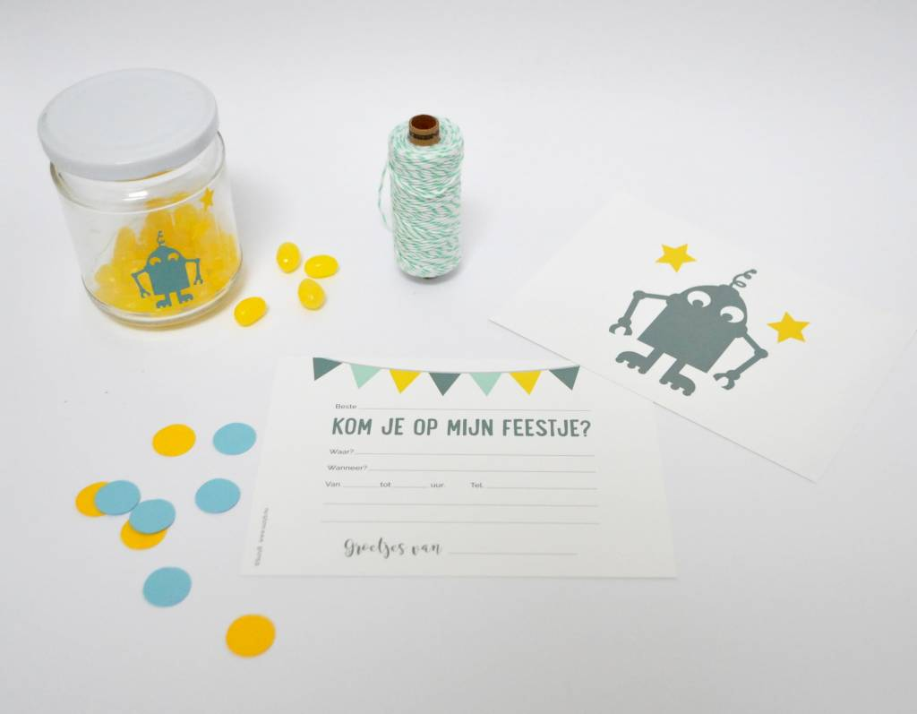 SuzyB Uitnodiging Robot