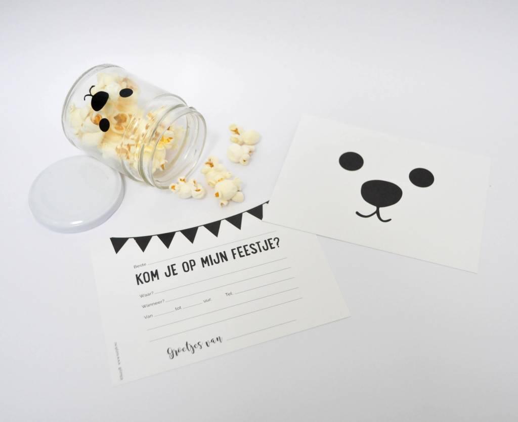 SuzyB Uitnodiging Bear