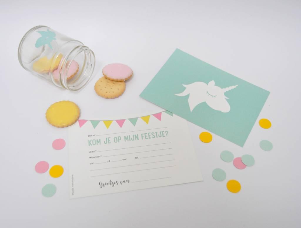 SuzyB Uitnodigingen Unicorn