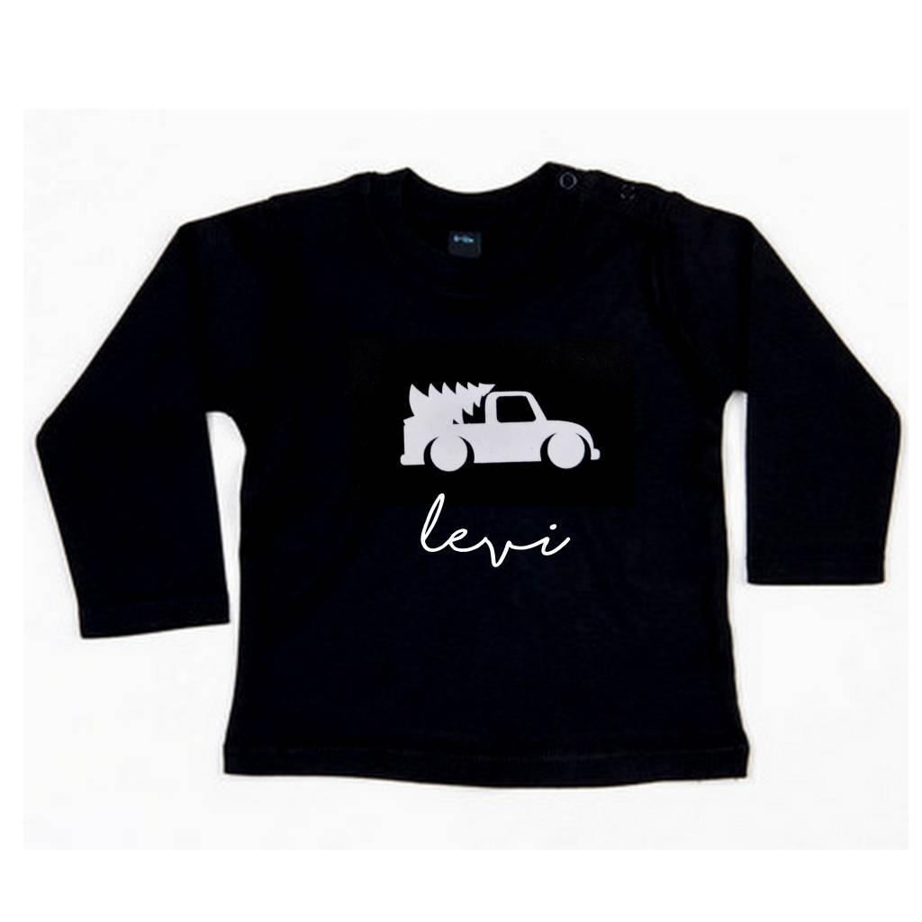 SuzyB Kerstshirt met naam en auto