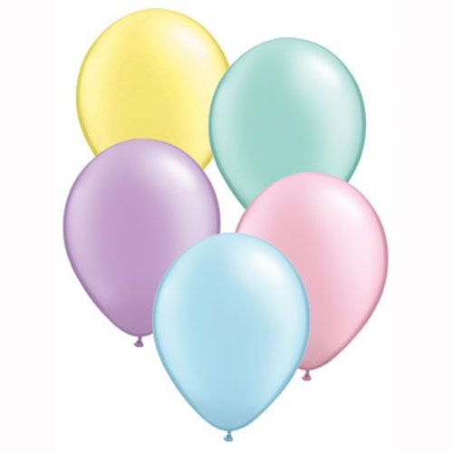 Miniballonnen pastelkleuren mix 10x