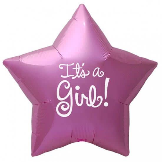 Folieballon ster it's a girl