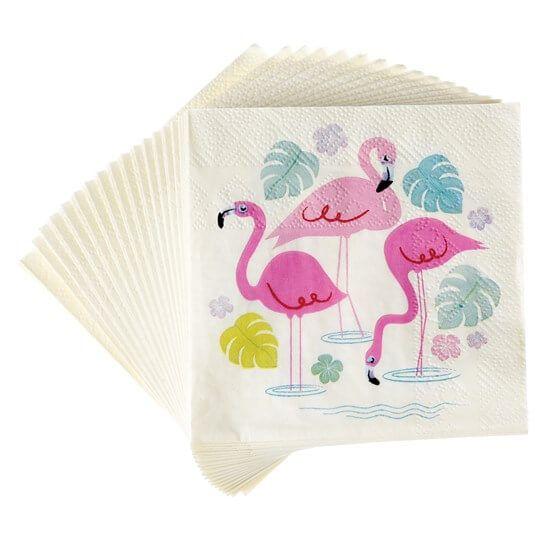 Servetten flamingo