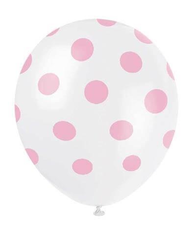 Ballonnen met roze stippen