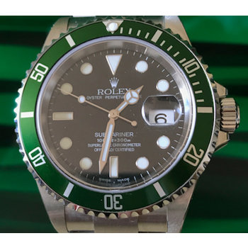 Rolex Submariner Date Ref. 16610 LV Fat Four NOS Y9...unworn B&P