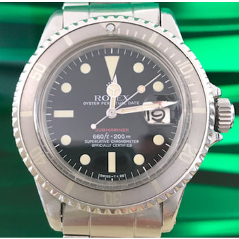 Rolex Submariner Date Ref.1680 Red unpolished / box punched papers AWESOME ghost bezel
