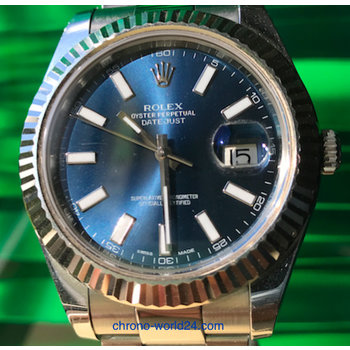 Rolex Oyster Perpetual Datejust II Ref. 116334 blue dial TOP