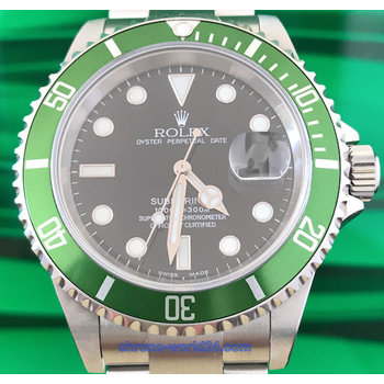 Rolex Submariner Date Ref. 16610 LV Fat Four Y9.. unpolished near NOS