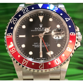 Rolex GMT - Master II Ref. 16710 Pepsi 2007/Z77... stick dial box & papers (plastic card) TOP