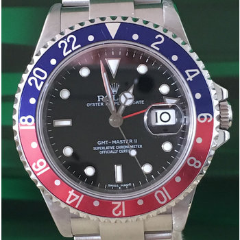 Rolex GMT - Master II Ref. 16710 BLRO Stick Dial/ Cal. 3186/ Box/Papers TOP