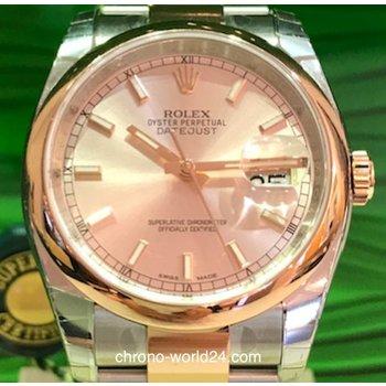 Rolex Datejust Ref. 116201 36mm LC100 Stahl-Rosegold