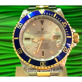 Rolex Submariner Date Ref. 16613 Sultan Serti Dial Box/Papers TOP